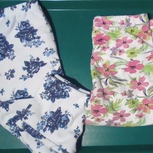 Bundle girls one pair of capris one pair of shorts